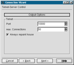 wizard configure connection