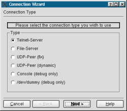 wizard connection type